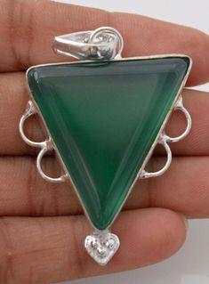Geometrical Shape Botswana Lace Agate Sterling Silver Plated Lovely Pendant F268 #valueforbucks #Pendant