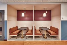 56 Ideas booth seating office interiors for 2019 Corner Seating, Booth Seating, Banquette Seating, Timber Wall Panels, Timber Walls, Corporate Interiors, Office Interiors, Mini Sala, Home Office