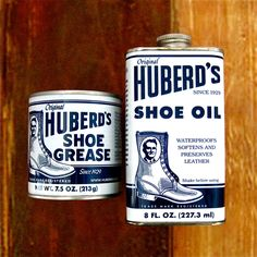 Typo: Huberd's Original Shoe Oil and Grease USA - Mollyjogger™ - Purveyors of Ozark Legend & Other Fine Goods™