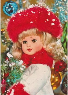 "Vintage Doll Christmas Postcard ~ ""Merry Christmas and Happy New Year"" in Dutch Retro 2, Retro Vintage, Best Memories, Childhood Memories, Merry Christmas And Happy New Year, Good Old, Vintage Dolls, Christmas Ornaments, Disney Princess"