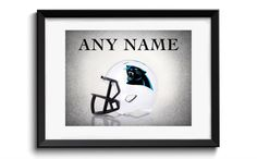 Personalized Carolina Panthers Helmet,boys room decor,kids room decor,teen room decor,nfl decor,football,football decor,sports wall art