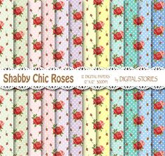 Shabby Chic Digital Paper DOTS RED ROSES Floral by DigitalStories  https://www.etsy.com/listing/127866767/shabby-chic-digital-paper-dots-red-roses?ref=shop_home_active_7