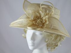 79cc5ebc FYI: Latest Derby Hats: Failsworth Millinery Cream Flower Wedding / Events  Hat (Price