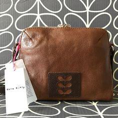 Genuine-ORLA-KIELY-Iris-Cut-Flower-Stem-Messenger-Bag-NEW-Tag-and-Dust-Bag