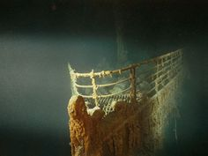 Underwater Prow of Titanic Photograph by Emory Kristoff, National Geographic With watts of light and cutting-edge submersible technology, the Titanic comes to life from two and a half miles beneath the ocean& surface. Rms Titanic, Titanic History, Titanic Wreck, Titanic Sinking, Wallpaper Gallery, Shipwreck, National Geographic Photos, Under The Sea, Abandoned
