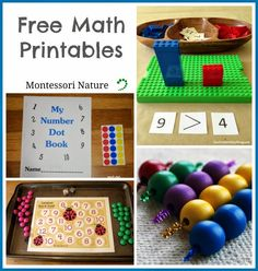 Montessori Nature: Free Math Printables (KLP Linky Party)