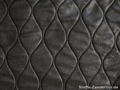 Tessuto si poliestere, nero, effetto trapunta, ca. 150cm