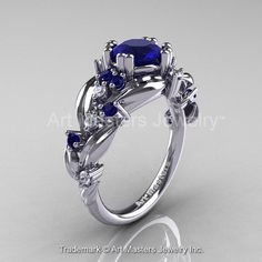 Nature Classic 14K White Gold 1.0 Ct Royal Blue by artmasters, $1399.00
