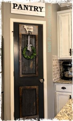 Diy pantry 185 Farmhouse Pantry Vorher Nachher Organisation - Farmhouse Room Four Easy Steps to Home Diy Pantry, Farmhouse Kitchen Decor, Pantry Door, Farmhouse Room, Farmhouse Pantry, Pantry Door Decor, Home Remodeling, Rustic Pantry Door, Modern Pantry