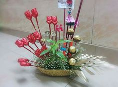 Chocolate bouquet for birthday