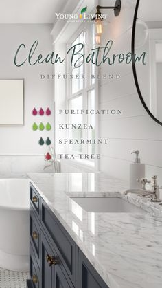 We all know what goes on in the bathroom, but that doesn't mean we want to broadcast it. Air fresheners can help mask the evidence; however, they also pollute your indoor air with harsh chemicals and toxins. Instead, banish bathroom odors with this clean-smelling Clean Bathroom blend of Purification, Kunzea, Spearmint, and Tea Tree. Now you can take care of business without letting the whole household know. #home #essentialoils #diffuserblends #yleo