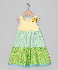 Lemon Head Tiered Dress - Toddler & Girls