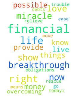 Prayer for Financial Breakthrough and Miracle Thank t