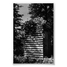 Buy purchase digital photography photograph photo picture image print 1970s 1970 download file antique old vintage archive historic historical hight resolution bw black white stock collection licence royalty free RF America USA Alaska deluxe outhouse $3.95