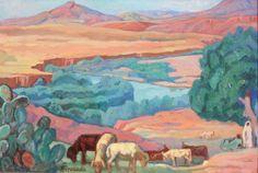 Augustin FERRANDO (1880-1957) Paysage d'Afrique du Nord. Huile sur panneau. Signé en bas à gauche. 50 x 75 cm. - Blanchet & Associés - 16/02/2016