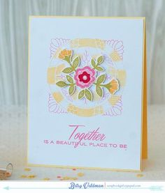 Together Quilt Card by Betsy Veldman for Papertrey Ink (February 2015)