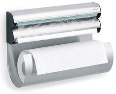 """OBAR KITCHEN MULTI STORAGE ROLL HOLDER. Stainless steel. H: 9"""" (23 cm) L: 12.6"""" (32 cm) W: 5.5"""" (14 cm)"""