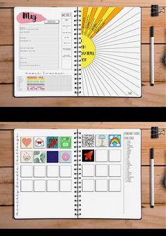 Mid Year 2018 2019 Bullet Journal Planner Calendar