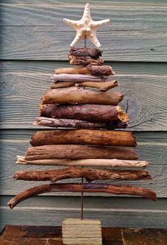 inspiracje w moim mieszkaniu: Choinka z drewna, alternatywa dla tradycyjnej choinki