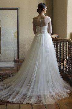 Augusta Jones Bridal dress | Augusta Jones Bridal 2015 I love the train