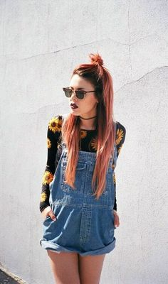 blossom shirt+denim jumpsuit=hipster lookbook