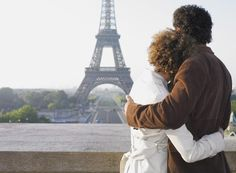Couple hugging in front of Eiffel Tower - stock photo Best Honeymoon Destinations, Travel Destinations, Cities, Romantic Paris, Adventure Bucket List, Packing List For Travel, France, Love Photos, Beautiful Pictures