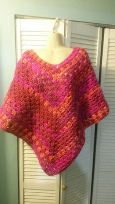Check out this item in my Etsy shop https://www.etsy.com/listing/477817902/multi-colored-poncho