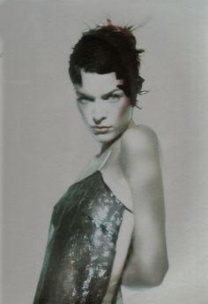 Milla Jovovich by Paolo Roversi for Vogue Italia, March 1998