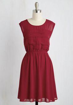 Vogue Wave Dress in Garnet   Mod Retro Vintage Dresses   ModCloth.com