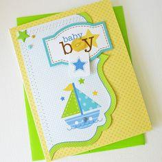 Card-Blanc by Kathy Martin: Baby Boy