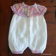 Ravelry: Project Gallery for Marianna's All-in-One Romper Suit pattern by marianna mel