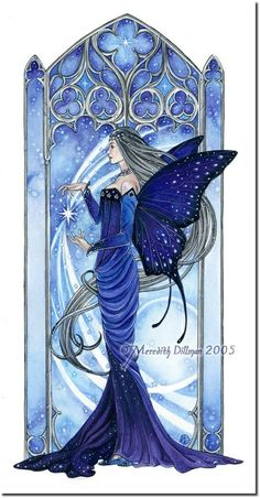 Meredith Dillman Fairies | Queen of the Night by Meredith Dillman | Fairies Art