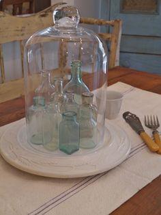 Vintage Bottles Cloche