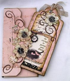 Design Team Project featuring Prima Almanac Collection (by Lesley) Ideas Scrapbook, Scrapbook Cards, Scrapbook Journal, Vintage Tags, Card Tags, Gift Tags, Shabby Chic Cards, Pink Envelopes, Handmade Tags
