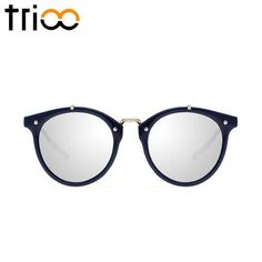 """These sunglasses are a combination between Cats and Hikers stile. Since its initial design in These """"Catkers"""" gained popularity among celebrities, musicia Retro Sunglasses, Round Sunglasses, Mirrored Sunglasses, Sunglasses Women, Glasses Brands, Color Lenses, Eyewear, Vintage, Female"""