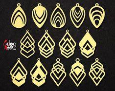 9 Wood / Acrylic Tree of Life Heart Earring / Pendant Leather Earrings, Leather Jewelry, Wooden Jewelry, Silver Earrings, Bijoux Diy, Shell Earrings, Teardrop Earrings, Damask, Etsy