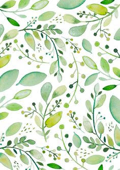 watercolor foliage Art Print