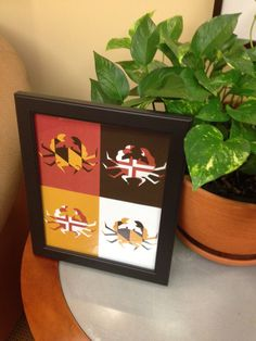 I already have something like this but not with the flag! And so cheap! (Maryland Flag Crabby Baltimore Print. $9.99, via Etsy.) want