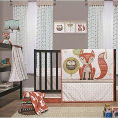 Little Haven Clever Fox 4 Piece Crib Bedding Set