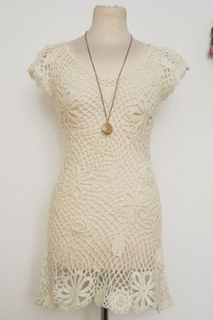 Cream Crotchet Dress by Lovelygirl, SMALL, £10 – Lulu & Claus