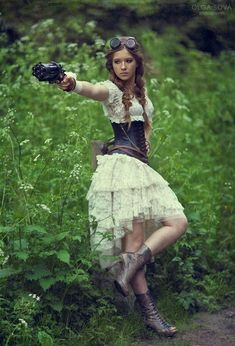 Steampunk Fashion Girl | steampunk #steampunk girl #steampunk gun #steampunk fashion