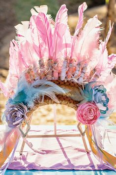 """Gorgeous Vintage & Floral """"Shabby Pow-Wow"""" Party // Hostess with the Mostess® Indian Birthday Parties, Indian Party, Birthday Ideas, Geek Birthday, Pow Wow Party, Festival Trends, Wedding With Kids, Third Birthday, Wild Ones"""