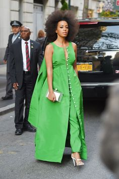 Solange Knowles, May 3, 2015, Dress and pants by Rosie Assoulin