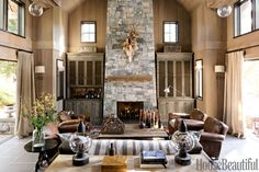 Top Pin of the Day: A Mountain Retreat Living Room