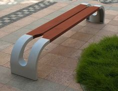 Bench in Wood & Metal