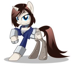 A videogame character as a pony. Could you guess who she is?