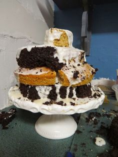 Checkerboard Cake Troubles