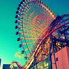 Ferris Wheel, carnival rides, theme park, roller coaster,