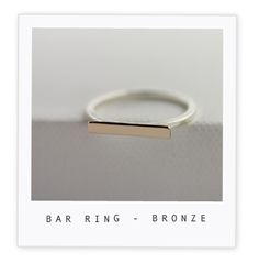 Bar Ring – Bronze $65