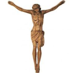Cuerpo de Cristo de madera pintada 100-90cm | venta online en HOLYART